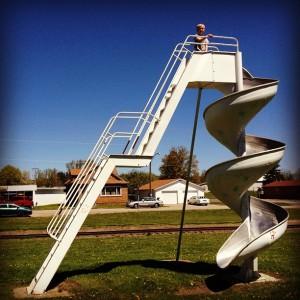 ZJ on slide