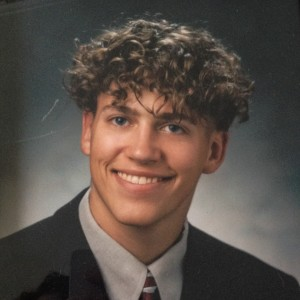 My senior portrait, now nearly 20 years ago...